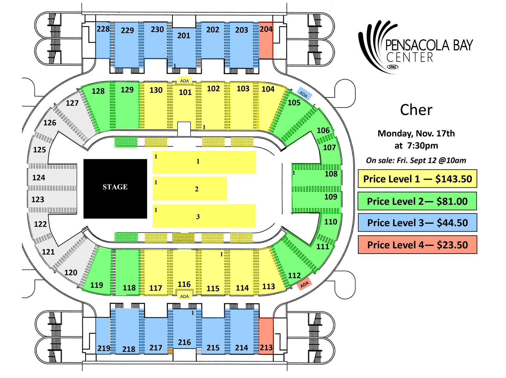 Pensacola Bay Center Cher S D2k Tour 2014 Postponed